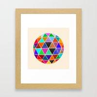 Geodesic 3 Framed Art Print