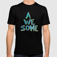 Awesome Mens Fitted Tee Black SMALL