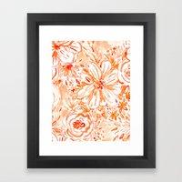 BIG SUNSHINE Floral Framed Art Print