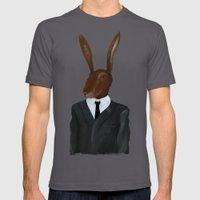 David Lynch   Rabbit Mens Fitted Tee Asphalt SMALL