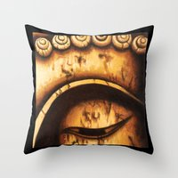 Buddha Right Eye Throw Pillow
