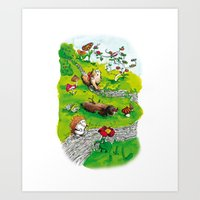 Animals Wood Art Print