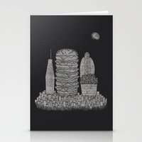 Fast Food City Stationery Cards