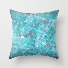 Fresh Blue Throw Pillow