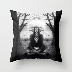 Meditate 2 Throw Pillow