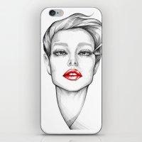 Red Lips iPhone & iPod Skin
