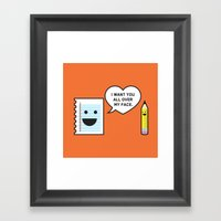 I Want You All Over My F… Framed Art Print