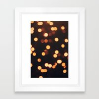 Christmas Lights II Framed Art Print
