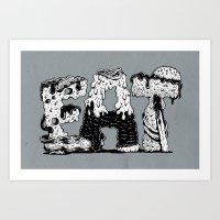 EAT - Lettering Art Print