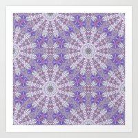 Jungle Kaleidoscope Amethyst II Art Print