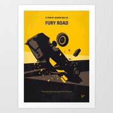 No051 My Mad Max 4 Fury Road minimal movie poster Art Print