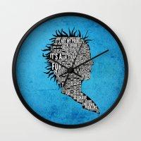 Typography Marla Singer Wall Clock