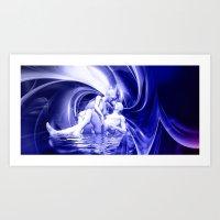 Blaue Lagune Art Print