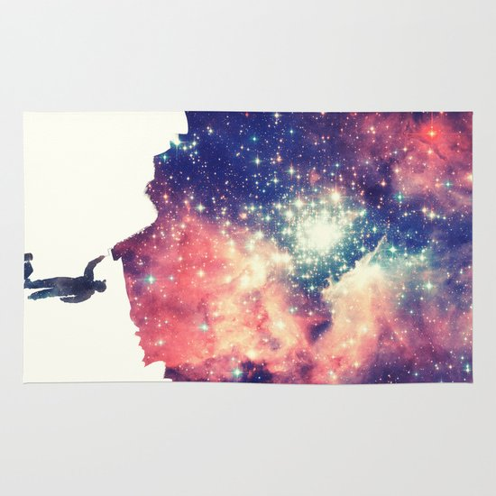 Painting the universe Area & Throw Rug
