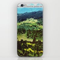 quietness and softness iPhone & iPod Skin