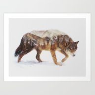 Art Print featuring Arctic Wolf by Andreas Lie