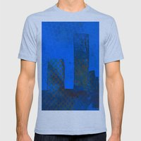 Blue City Mens Fitted Tee Tri-Blue SMALL