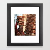 Brickwork Framed Art Print