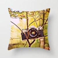 Vintage Canon Camera Throw Pillow