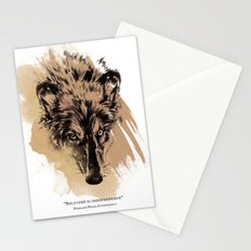 Solitude is independence Stationery Cards