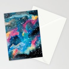 Watercolor Galaxy Stationery Cards