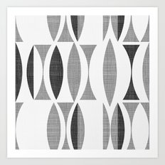 Seventies Black And Whit… Art Print