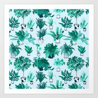 Houseplants All Over The Place Art Print