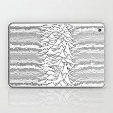 Unknown Pleasures - White Laptop & iPad Skin