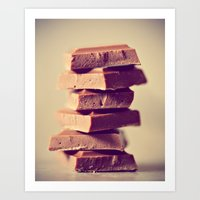 Chocolate Lover Art Print