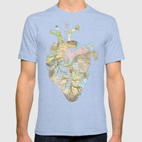 A Traveler's Heart (N.T) Mens Fitted Tee Tri-Blue SMALL