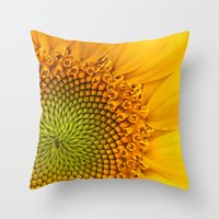 Sunny Flower Throw Pillow