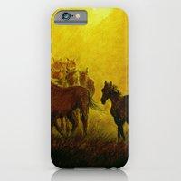 Horses At Sunset iPhone 6 Slim Case