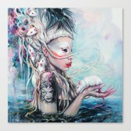 Yolandi The Rat Mistress… Canvas Print