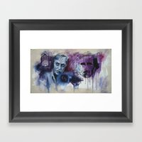 Corman And Poe Framed Art Print