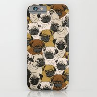 iPhone & iPod Case featuring Social Pugz by Huebucket