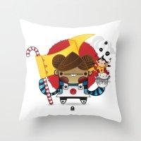 Chestnut + Kiiroihankachi cause we will not forget!!! Throw Pillow