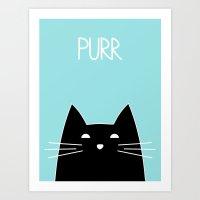 Purr Art Print