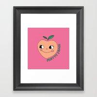Pretty Peach Framed Art Print