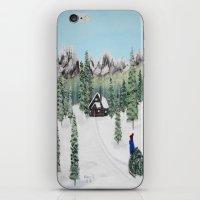 Christmas on the mountain iPhone & iPod Skin