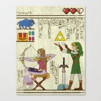 Hero-glyphics: Hyrule Hi… Canvas Print