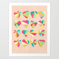 Some Hearts Art Print