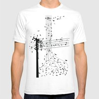 Morning song birds Mens Fitted Tee White SMALL