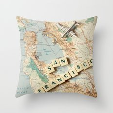 Let's Fly To San Francis… Throw Pillow