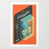Subdimensional Hypernude… Art Print