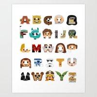ABC3PO Art Print