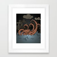 Octopi Movement  Framed Art Print