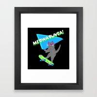 Meowabunga  Framed Art Print