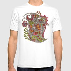Random Flowers Mens Fitted Tee SMALL White