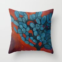 Mexico Cactus Throw Pillow