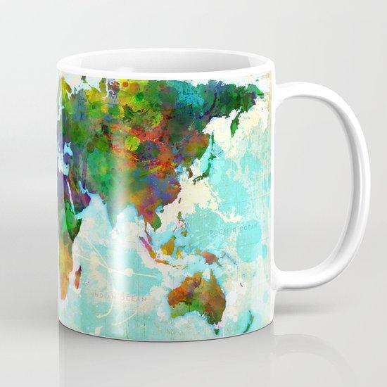 Abstract Map of the World Mug